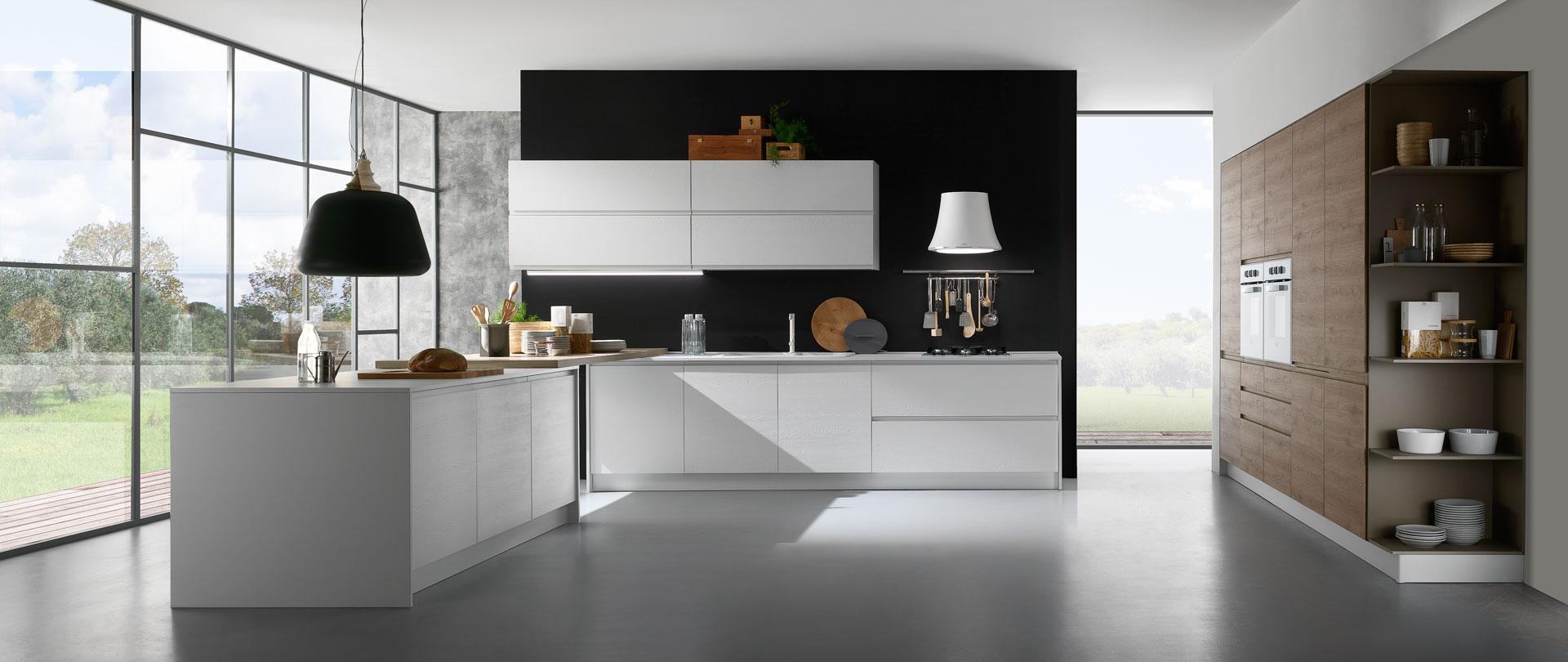 01-cucina-moderna-bianco-rovere-rustico-luna - Cucinissima