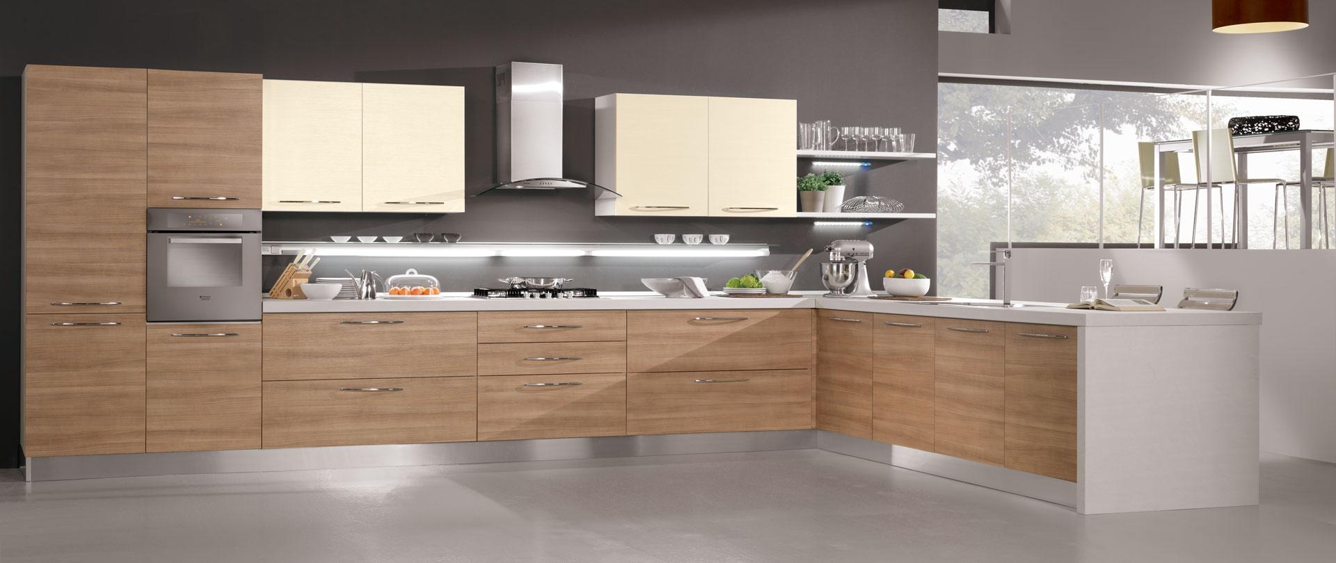 Cucine Moderne In Ciliegio.01 Cucina Moderna Brio Ciliegio Marbella Magnolia 1
