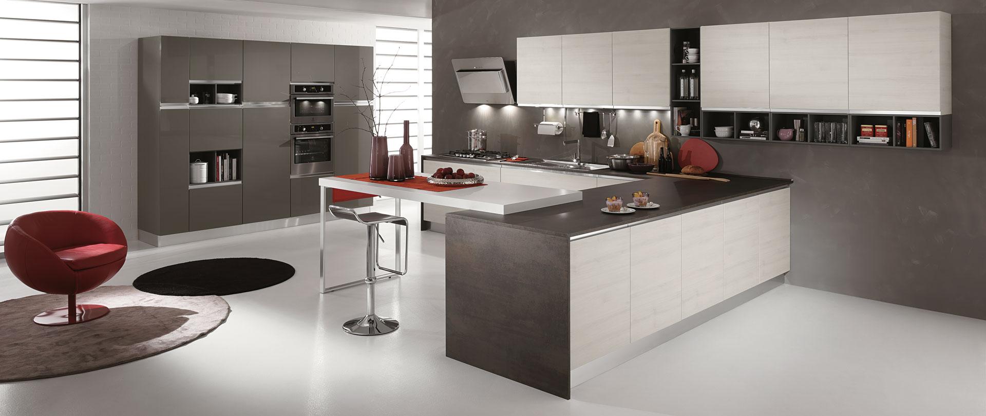 01-cucina-moderna-newmeg-tranche-ghiaccio-grigio-polvere - Cucinissima