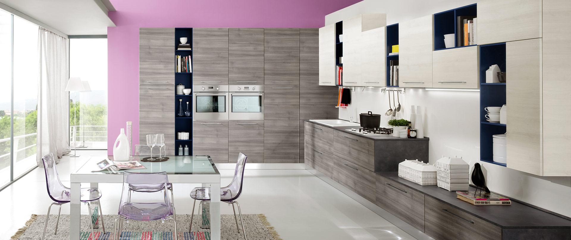 Piastrelle per cucina bianca lucida finest cucina bianca e grigia lucida con microonde a - Piastrella bianca lucida ...